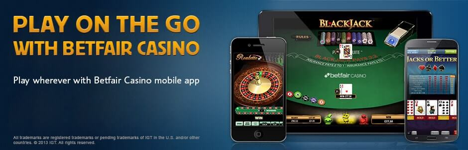 Betfair Casino Mobile app