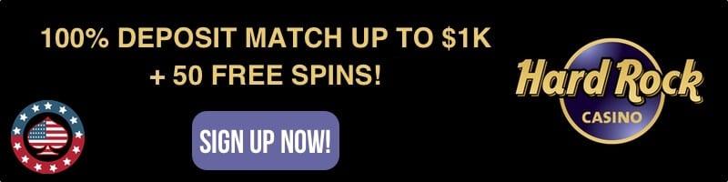 Hard Rock Casino bonus offer America